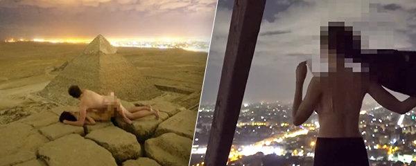 Turisté vyvrcholili na vrcholku pyramidy: Egypťané jsou vzteky bez sebe!