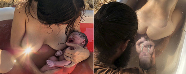 Domácí porod do vany pod širým nebem: Pro děťátko je to nejlepší, tvrdí matka