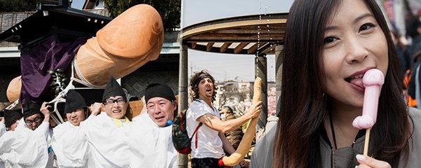 Ulice zaplavily tisíce penisů: Japonský svátek připomíná erotický veletrh