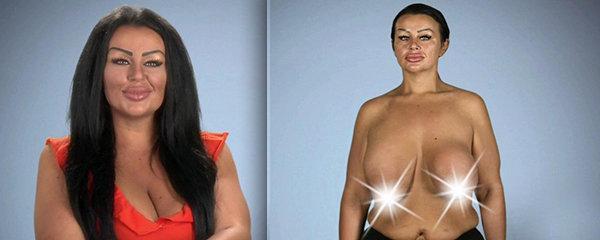 Krystina chce další operaci prsou, aby nevypadaly jako tenisáky v ponožkách. Prsní dvorce má ve tvaru srdíčka