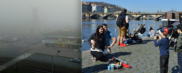 Slunečná sobota potěšila Česko, na Ostravu padl smog. Další dny se ochladí