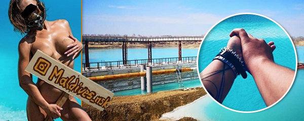 Ruské Maledivy: Lidé se vrhají do nádrže na odpad, nalákala je tyrkysová voda