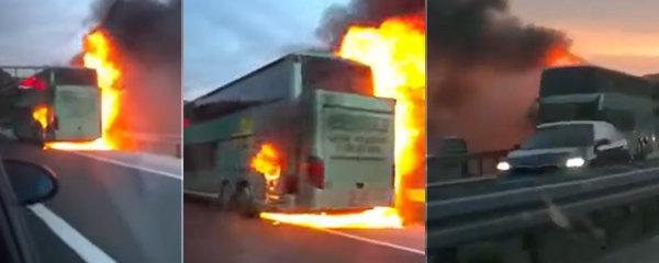 V Chorvatsku shořel český autobus! Uvnitř bylo 49 lidí