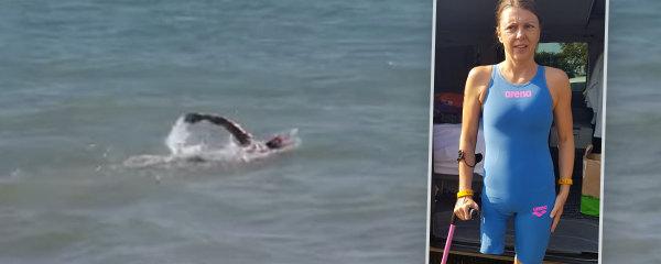 Markéta přišla ve 12 letech o nohu: Právě bojuje s vlnami kanálu La Manche: