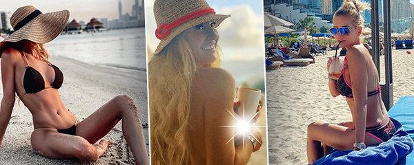 """Trojboj sexy krásek 40+ na dovolené: Cudná Rolins, rozcapená Verešová a Krainová s """"umělými""""..."""