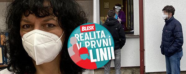 Realita v první linii: Praktická lékařka Lenka testuje z okna své ordinace