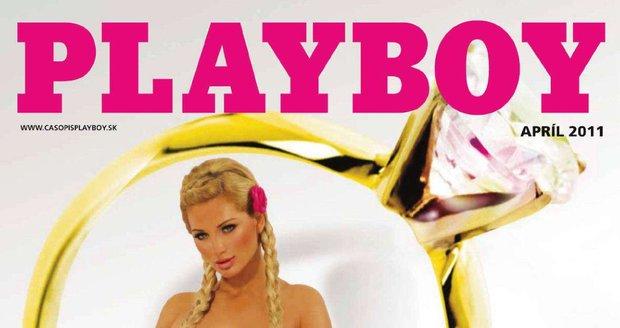 Zuzana na obálce dubnového čísla Playboye