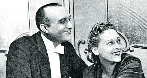 Zita Kabátová s Oldřichem Novým