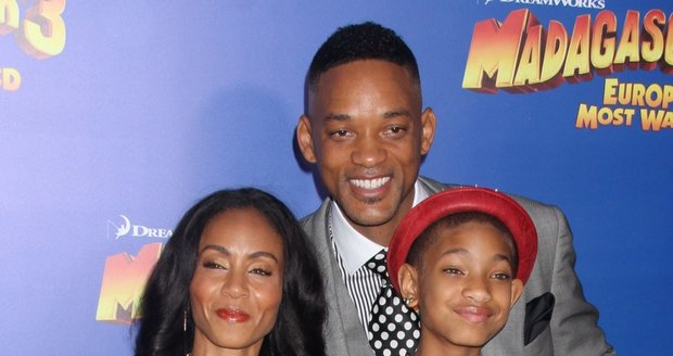 Herecká rodina na premiéře Madagaskaru 3