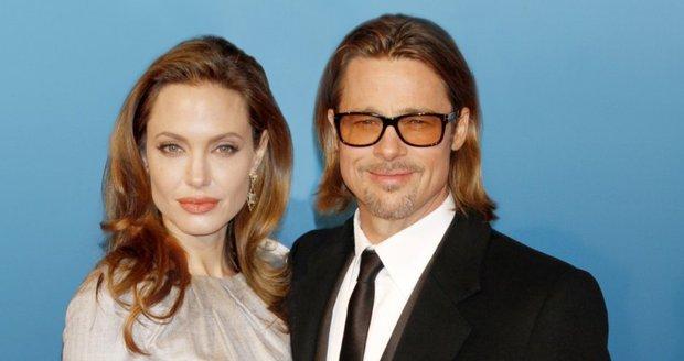 Herečka Angelina Jolie (37) a herec Brad Pitt (48)