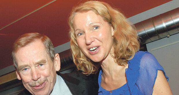 Exprezident Havel měl slabost pro blondýny.