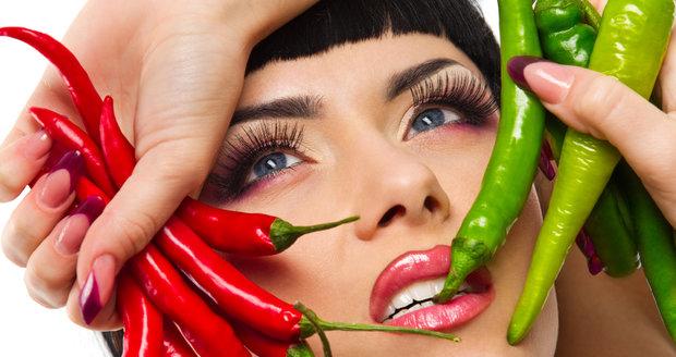 Chilli papričky, nebo něco jemnějšího? Je to na vás.