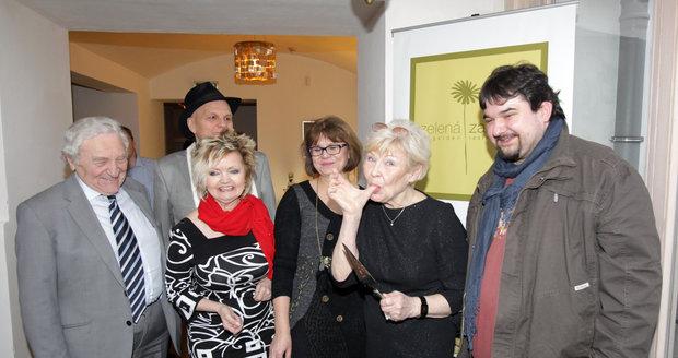 Valentina oslavila 80. narozeniny v restauraci Zelená zahrada.