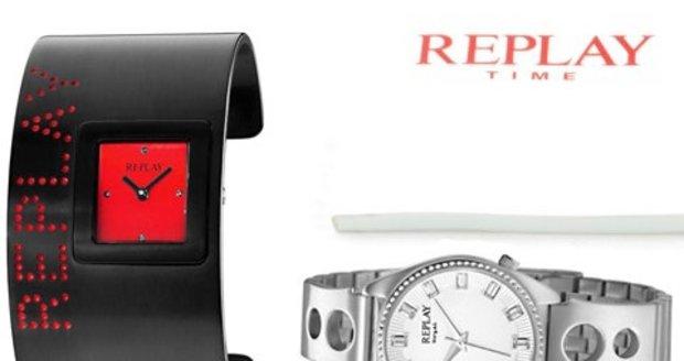 Hodinky Replay v akci. Sleva 65% na vybrané modely. Dopřejte si trendy hodinky Replay i Vy