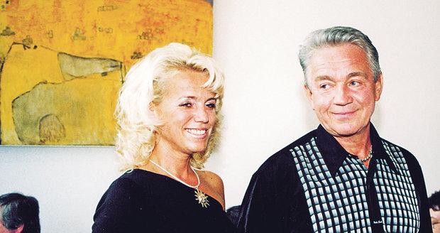 Krampol se svou Haničkou v roce 2001