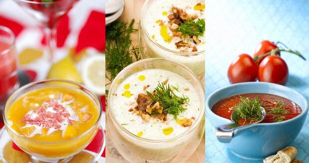 Studené polévky v parném vedru osvěží!
