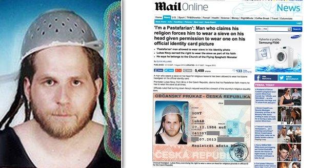 O povedeném kousku Lukáše Nového píše i server Daily Mail