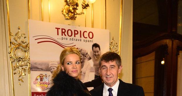 Andrej Babiš s partnerkou Monikou Babišovou