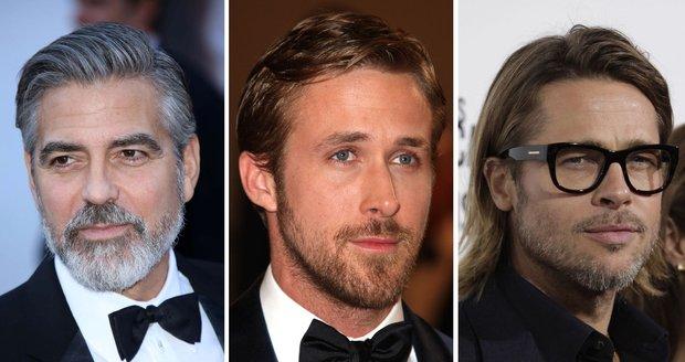 Zdají se vám slavní herci s vousy sexy, nebo byste je poslala pro žiletky?