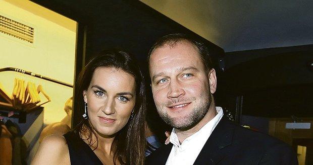 Jiří Šlégr s manželkou Lucií Královou