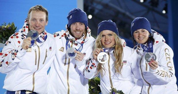 Čeští biatlonisté vybojovali druhé místo ve smíšené štafetě