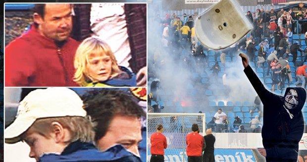 Děsivá válka chuligánů s policií na Baníku. Děti brečely strachy!