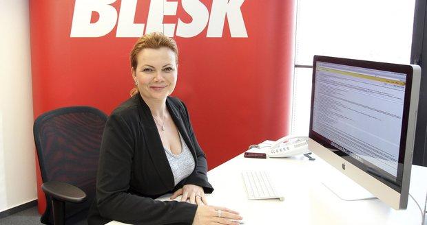 Generální ředitelka AAA Auto Karolína Topolová na chatu v Blesk.cz