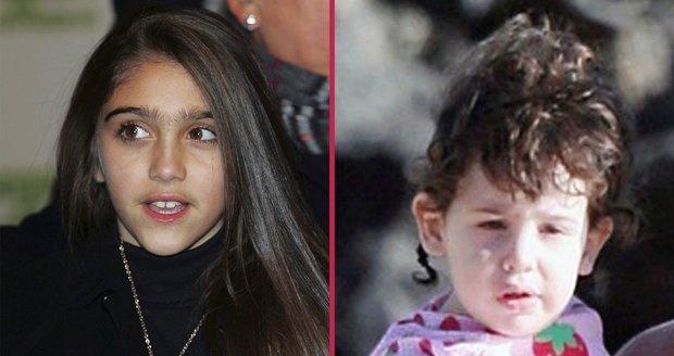 Dcera zpěvačky Madonny Lourdes Leon (vlevo) vypadá spíš jak dítě vlkodlaka. Dcera herce Adama Sandlera Sadie (vpravo) zase jako malý mimozemšťan.