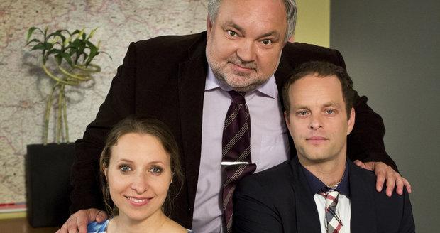 Tereza se svými hereckými kolegy z Ulice