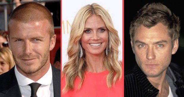 I David Beckham, Heidi Klum a Jude Law byli svým partnerům nevěrní se svým zaměstnancem.