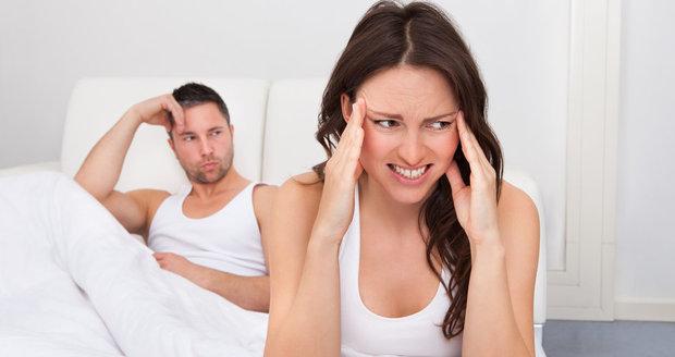 Bolest hlavy může zničit sexuální život.
