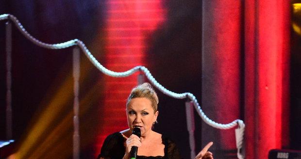 Bára Basiková vystoupila na galaveřeru Královny popu.