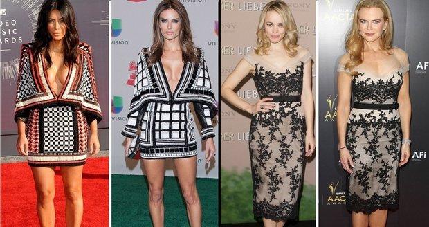 Slavné ženy ve stejných šatech.