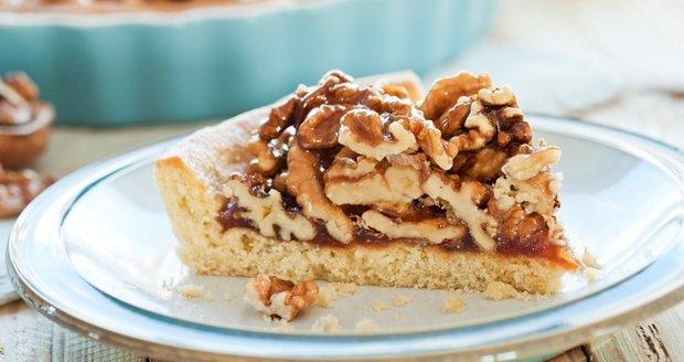 Linecký koláč s ořechy
