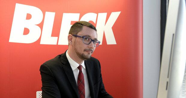 Jiří Ovčáček v redakci Blesk.cz