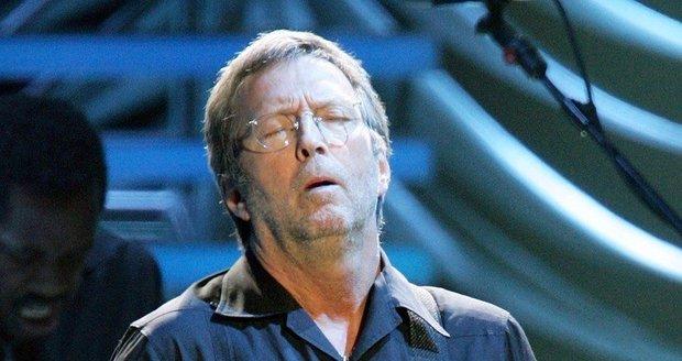 Eric Clapton při jamování na koncertu