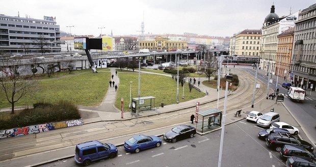 Takto vypadá Těšnov v Praze nedaleko Florence. V těchto místech by mikrodepo mělo vzniknout. (ilustrační foto)