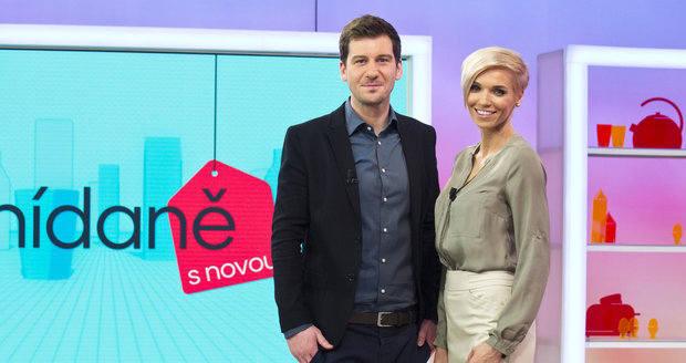 Moderátoři Snídaně s Novou Hana Mašlíková a Petr Říbal
