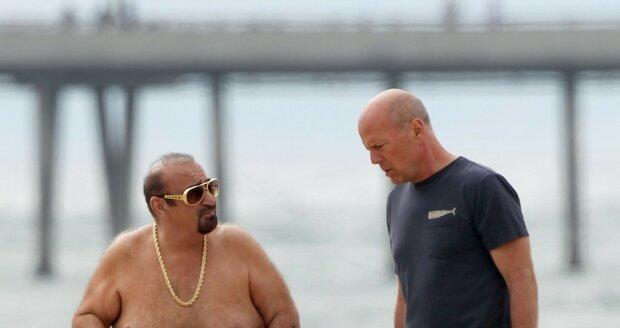 Bruce Willis při natáčení nového filmu