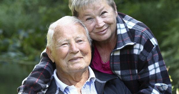 Karel Fiala s manželkou Věrou.