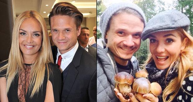Táňa Kuchařová a Ondřej Brzobohatý vyrazili na houby.