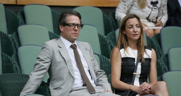 Hugh Grant a Anna Elisabeth Eberstein, matka jeho druhého dítěte