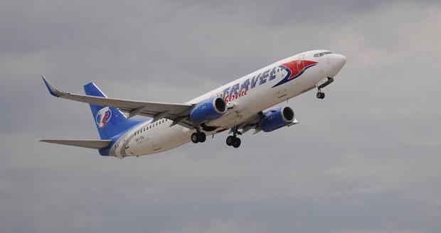 Letadlo Travel Service z Malagy do Prahy muselo nouzově přistát. Kvůli motoru