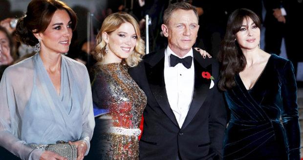 83982137119a Vévodkyně s povolením oslnit krásou  Kate na premiéře nové Bondovky ...