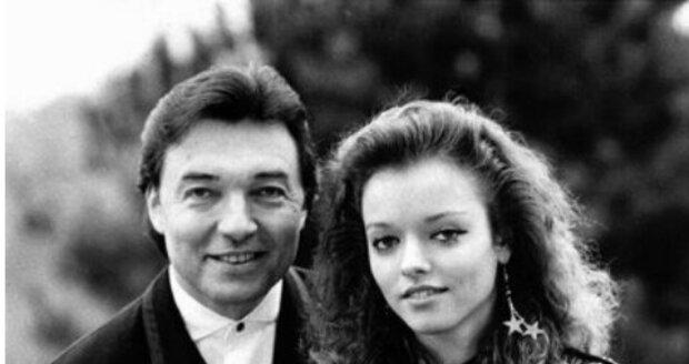 S dcerou Dominikou na začátku 90. let.