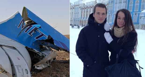 V Egyptě ji chtěl požádat o ruku! Lásku Saši a Ženi ukončila havárie ruského airbusu