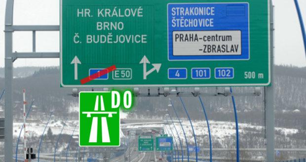 Kolem Prahy po D0. Nové značení čeká Pražský okruh i další silnice v Česku