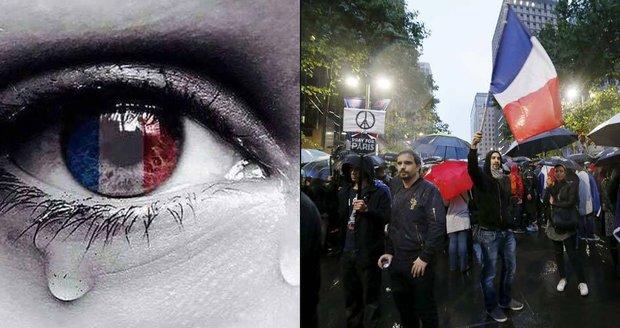 Sociální sítě ovládla vlna solidarity a tři krátká slova: Pray for Paris
