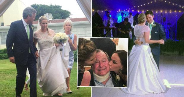 George Bush provdal vnučku! Prominentní dceruška si brala vojáka