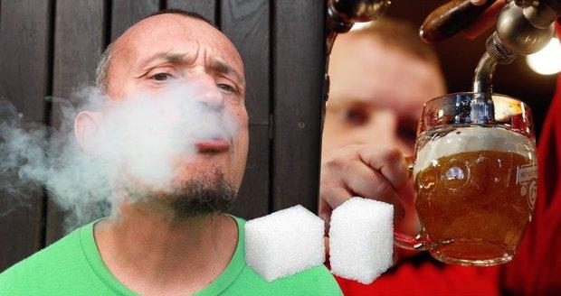 Víc alkoholu a cigaret, méně cukru a králíků. Tak se změnily požitky Čechů